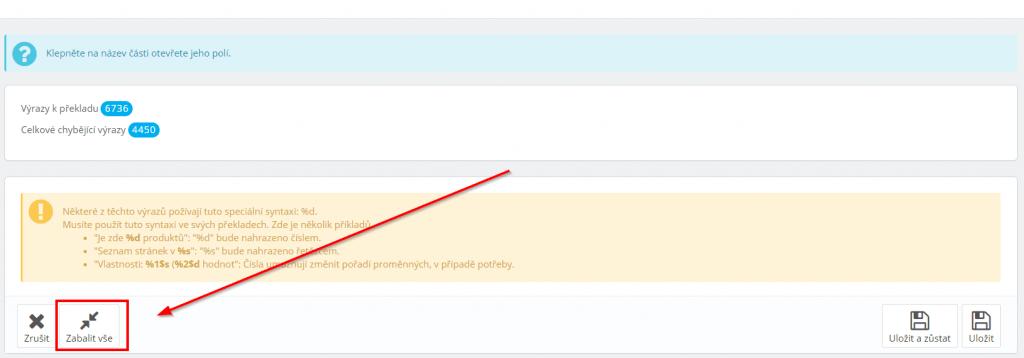 prestashop 1.6 Cofsi košík - návod na změnu textu na tlačítku objednat - Zabalit vše