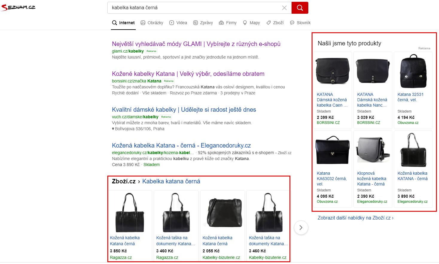 seznam nákupy