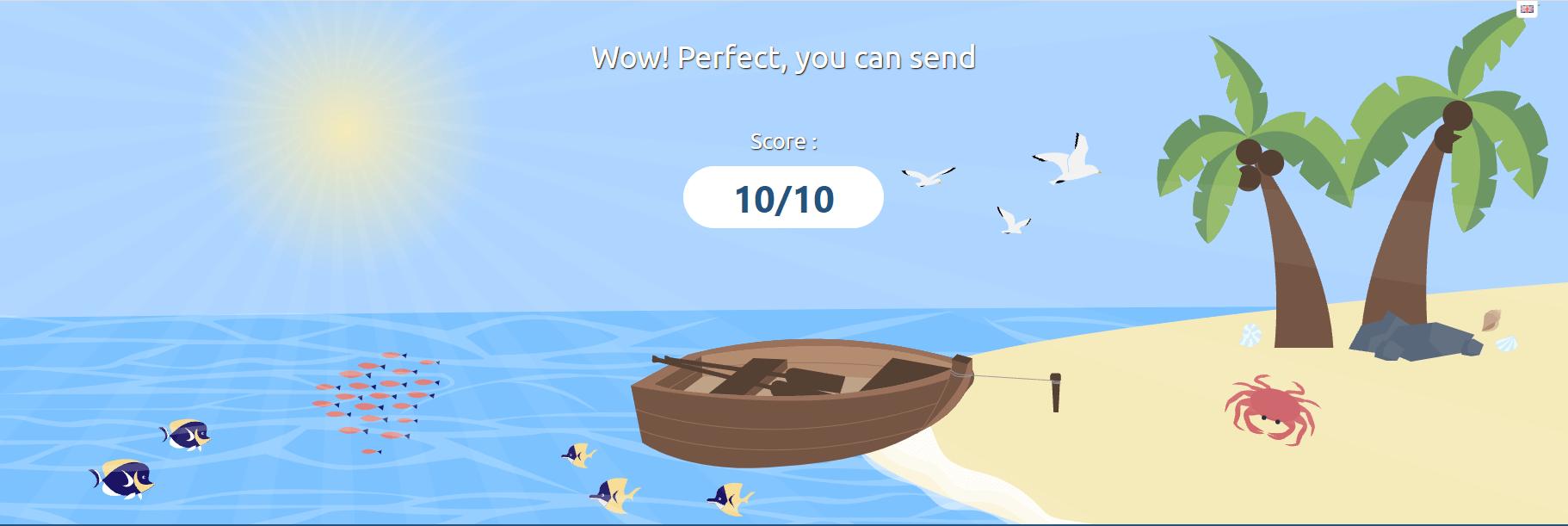 Výsledek testu spam skóre